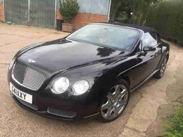 BENTLEY CONTINENTAL GTC 2007 57 AUTO BLACK 70500 miles