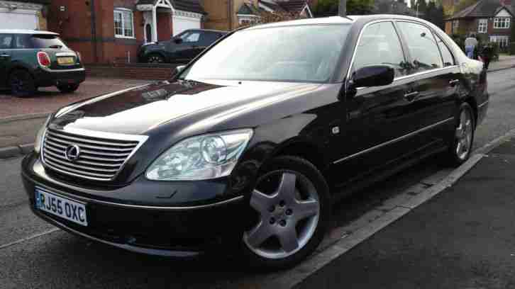 Lexus BLACK 2005 LS430 FACE LIFT 6 SPD, JUST 3 OWNERS, FVH, FULL MOT, NICE  £2650