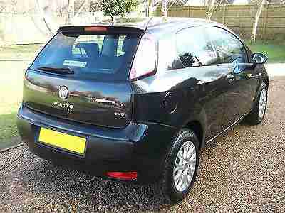 BLACK 2010 FIAT PUNTO EVO 1.4 ACTIVE 3 DOOR MANUAL PETROL