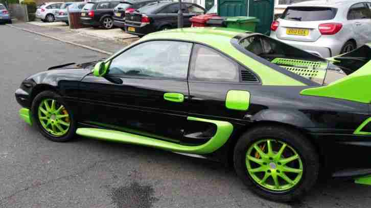 black green toyota mr2 japanese import sports car with body kit car for sale. Black Bedroom Furniture Sets. Home Design Ideas