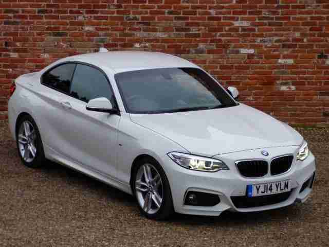 BMW 2 Series 2.0 220i M Sport 2dr (start/stop) BLUETOOTH - BMW PETROL 2014/14