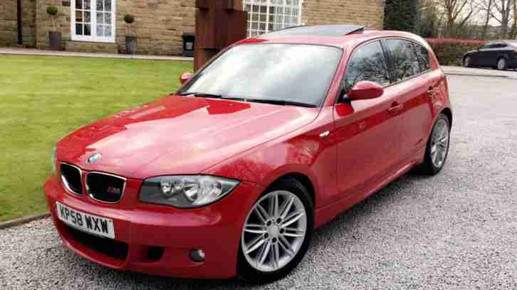 bmw 2008 118d m sport rare crimson red ultimate spec 30 road tax stop. Black Bedroom Furniture Sets. Home Design Ideas