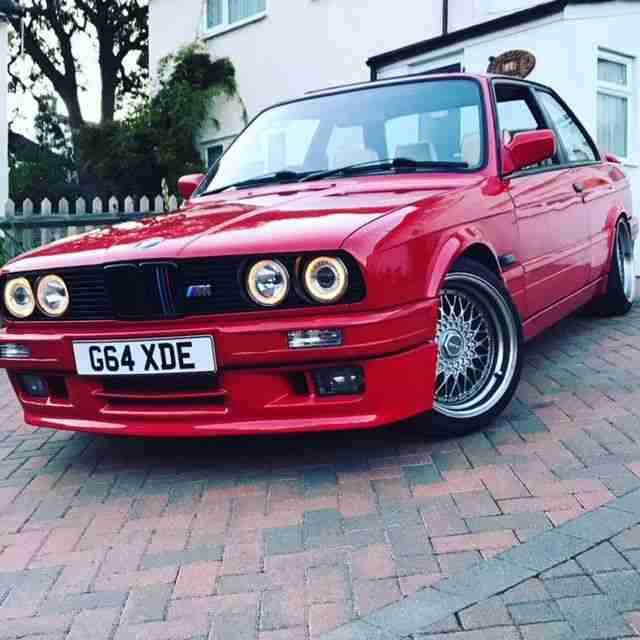 BMW E30 FOR SALE RED GENUINE M TECH 2 325i SPORT