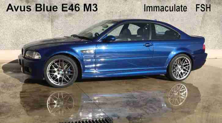 BMW E46 M3. BMW car from United Kingdom
