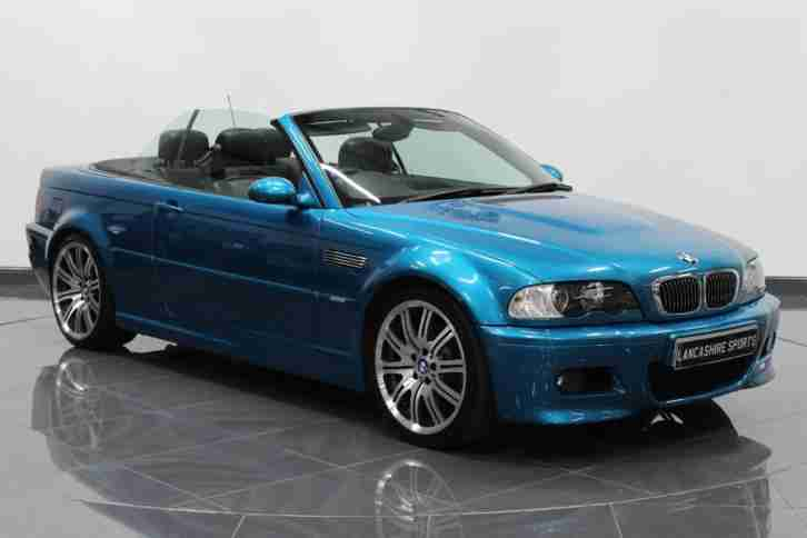 BMW M3 3.2 2005 M3 TURQUOISE BLUE MANUAL CONVERTIBLE