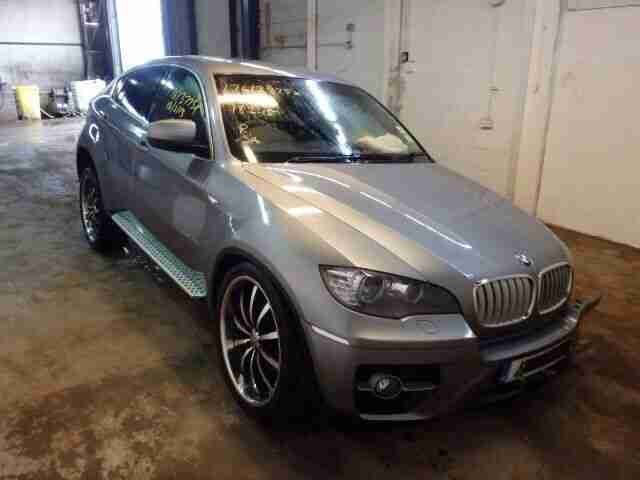 bmw x6 x35d 2009 space grey damaged repairable salvage cat. Black Bedroom Furniture Sets. Home Design Ideas