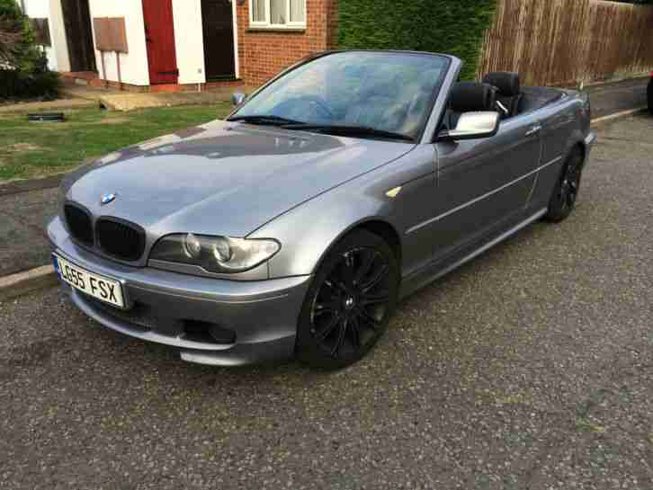 bmw e46 320cd sport convertible diesel 55 reg spares or repair car for sale. Black Bedroom Furniture Sets. Home Design Ideas