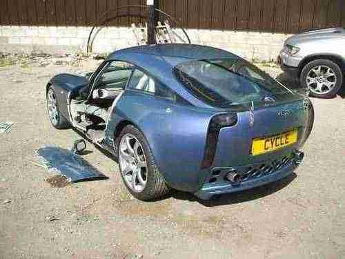 TVR BREAKING CERBERA. TVR car from United Kingdom