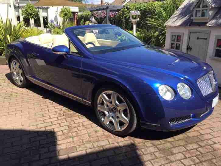 Bentley Continental GTC Mulliner driving spec Moroccan Blue 2008