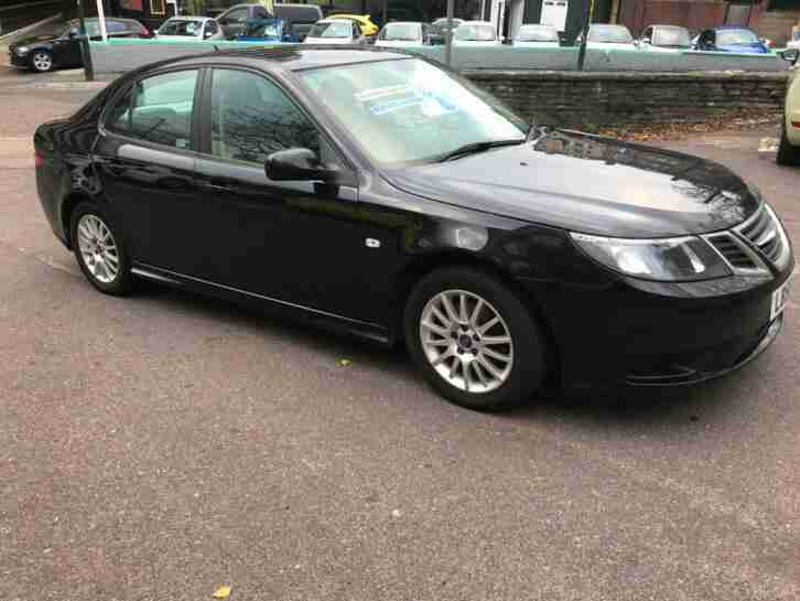 Saab Black 2009. Saab car from United Kingdom