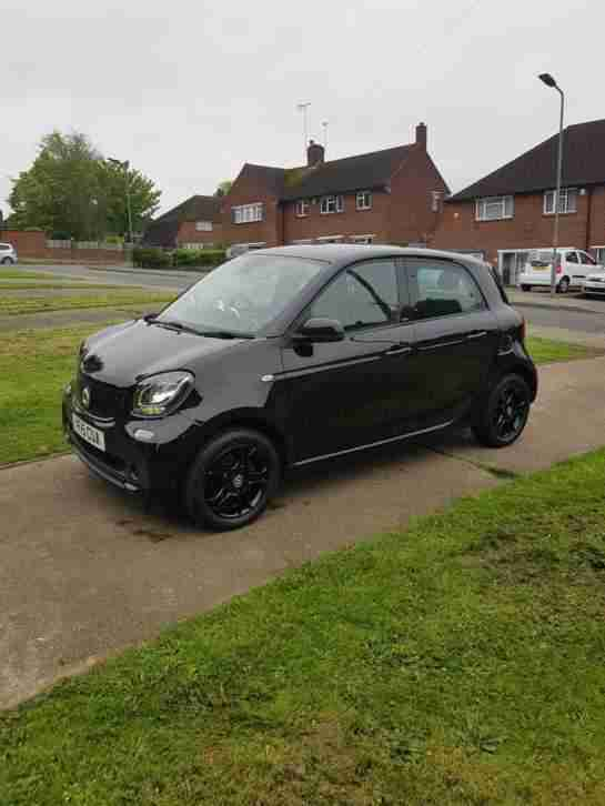 Smart Black car. Smart car from United Kingdom