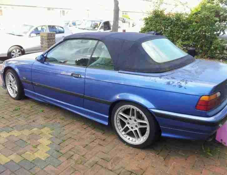 BMW e36 m3 Convertible replica Estoril Blue Acs wheels ...