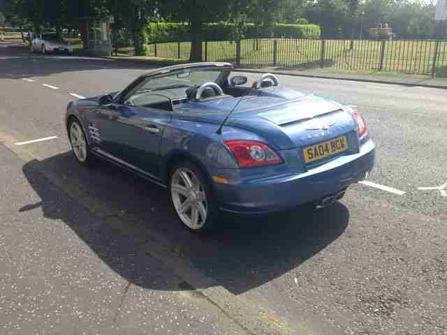 CHRYSLER CROSSFIRE CONVERTIBLE 3.2 V6 AUTO 04/2004 IN BLUE AUTO FSH