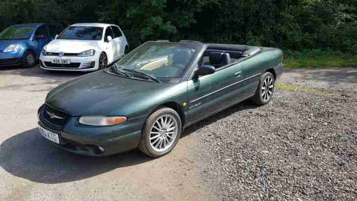 CHRYSLER STRATUS CONVERTIBLE 2.5 AUTO 2000 LEFT HAND DRIVE PROJECT