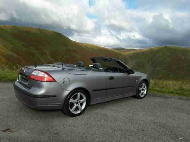 CONVERTIBLE SAAB 9.3 VECTOR 2.0 PETROL, 2005. 92,000 MILES WITH HISTORY.