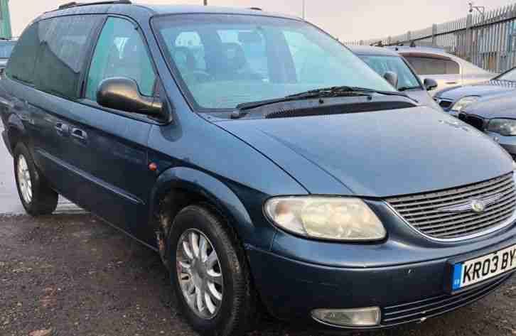 Chrysler Grand Voyager 2.5 Diesel 7 Seater Leather Suede Seats MOT Mar 2019