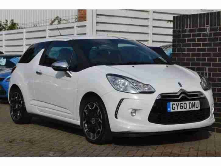 citroen ds3 hdi black and white 3dr diesel manual 2010 60 car for sale. Black Bedroom Furniture Sets. Home Design Ideas