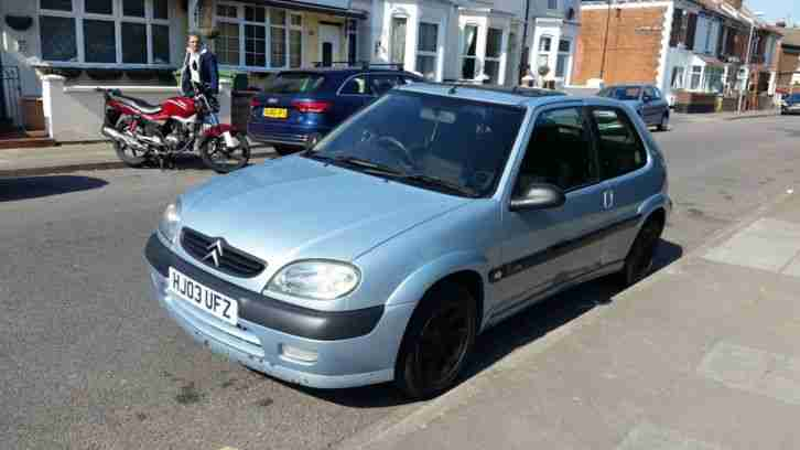 Citroen Saxo VTR. Citroen car from United Kingdom