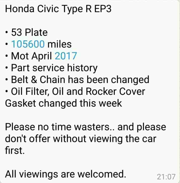 Civic Type R EP3