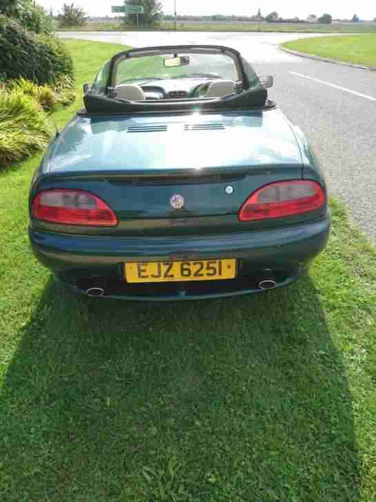 Convertible MGF Sports Car With Private Plate
