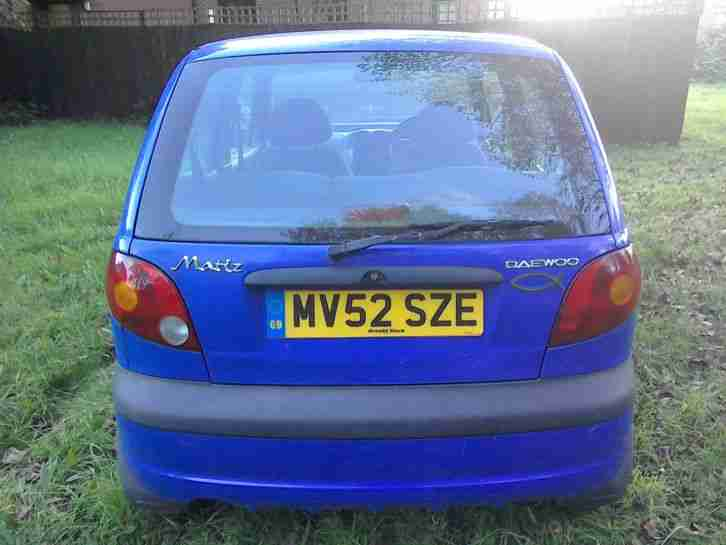 DAEWOO MATIZ 0.8 SE 2002 MODEL NO RESERVE