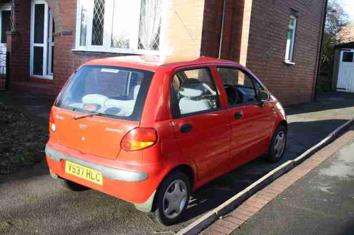 DAEWOO MATIZ 1999 RED