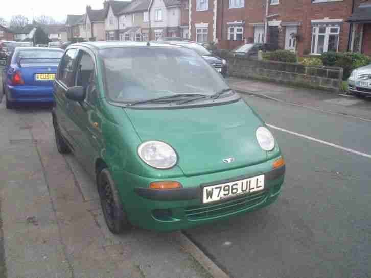 Daewoo MATIZ.SE. 800cc 4 DOOR GREEN IN COLOUR 47602 MILES. car for