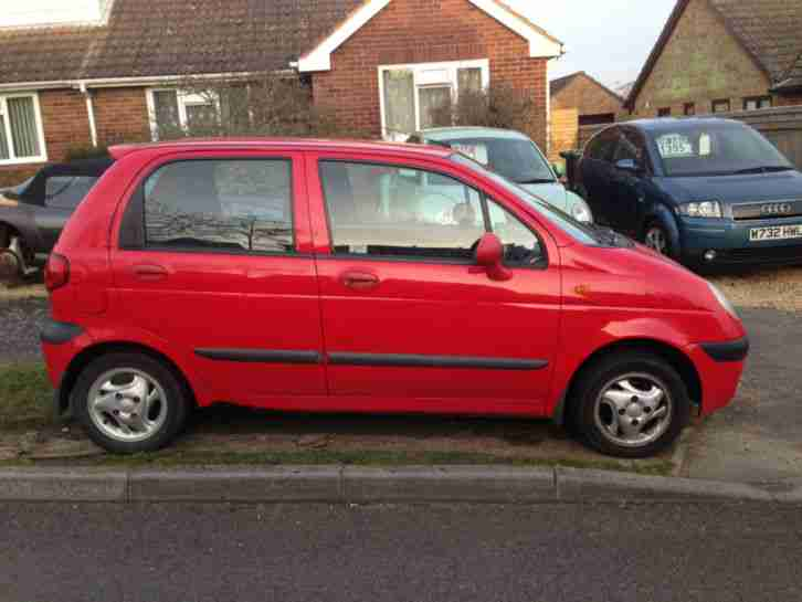 daewoo matiz se plus red 2001 with 12 months mot car for sale. Black Bedroom Furniture Sets. Home Design Ideas
