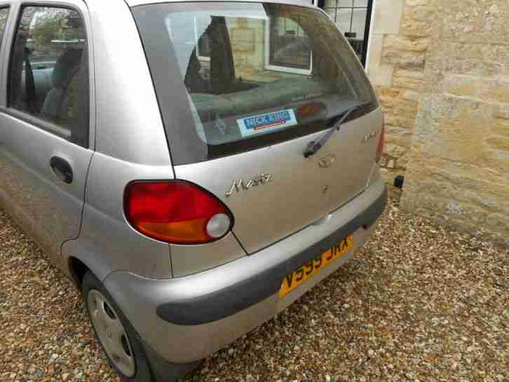 DAEWOO MATIZ SE SILVER learner first car insurance group 5. 45mpg 796cc manual