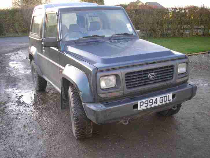 DAIHATSU FOURTRAK 1996.2.8 TURBO DIESEL.MOT TILL SEPTEMBER 2015 RELIABLE SOLID