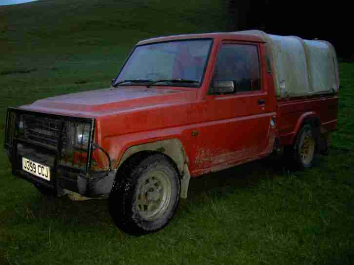 DAIHATSU FOURTRAK ONE OWNER,L,W,B, PICKUP,NONE TORBO,NO MOT, WILL MOT IF NEEDED