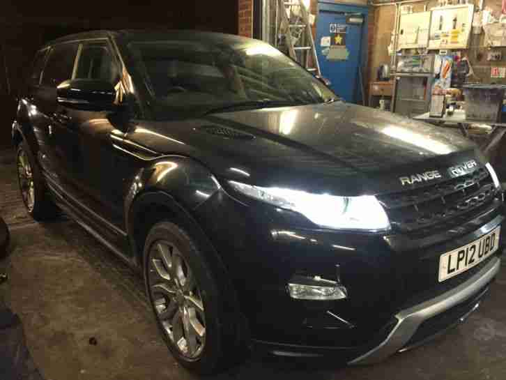damaged salvage 2012 land rover range rover evoque d lux black car for sale. Black Bedroom Furniture Sets. Home Design Ideas