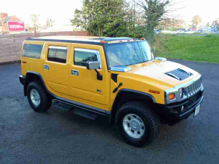 DEPOSIT RECEIVED HUMMER H2 FRESH IMPORT IN YELLOW IMMACULATE CONDITION