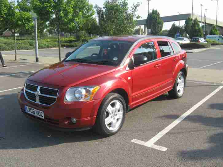 DODGE CALIBER 2008 1.8 SXT RED