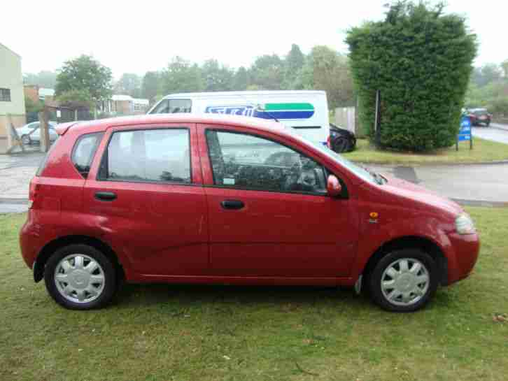 daewoo kalos 1 4 16v sx red cheap car low mileage 5 door reliable. Black Bedroom Furniture Sets. Home Design Ideas