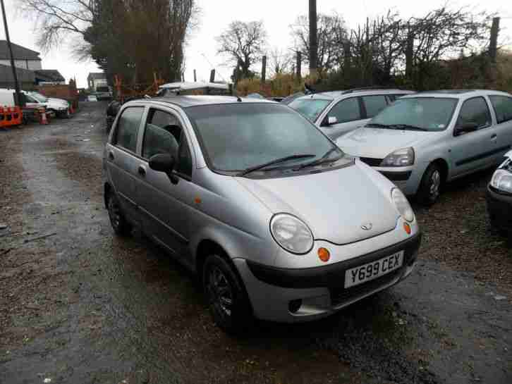 Daewoo Matiz 0.8 SE 2001 Silver BREAKING FOR SPARES Good Front End