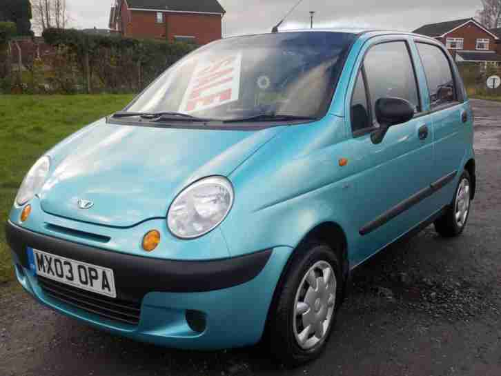 Daewoo Matiz 1.0 SE,BLUE,49000 MILES,5 DOOR,PETROL,MANUAL