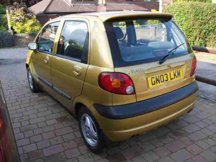 Daewoo Matiz Se Plus  800cc  2003  5 Door  Manual  Car For