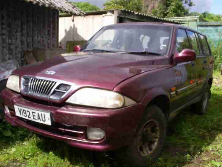 Ssangyong Daewoo Musso. Ssangyong car from United Kingdom