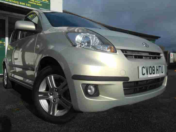 Daihatsu Sirion 1.0 SE 68bhp 5 Door Manual Hatchback 2008 Silver Haze Grey Cloth