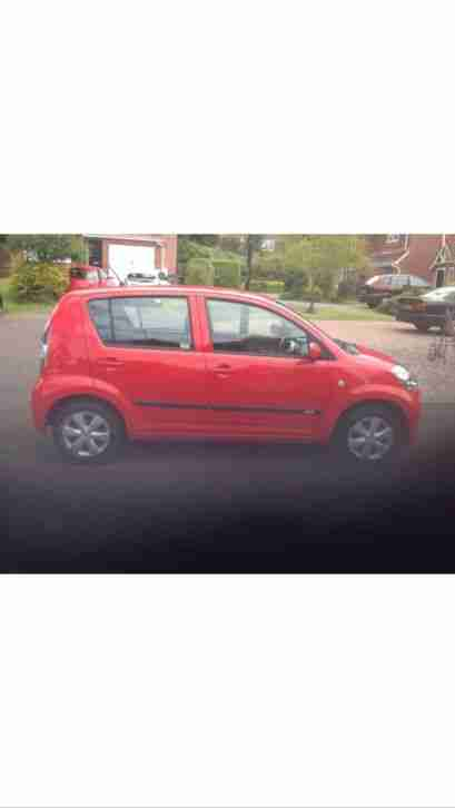 Daikhatsu Sirion 44K miles, 11 moths MOT, Full Service, Petrol/Gas, RED