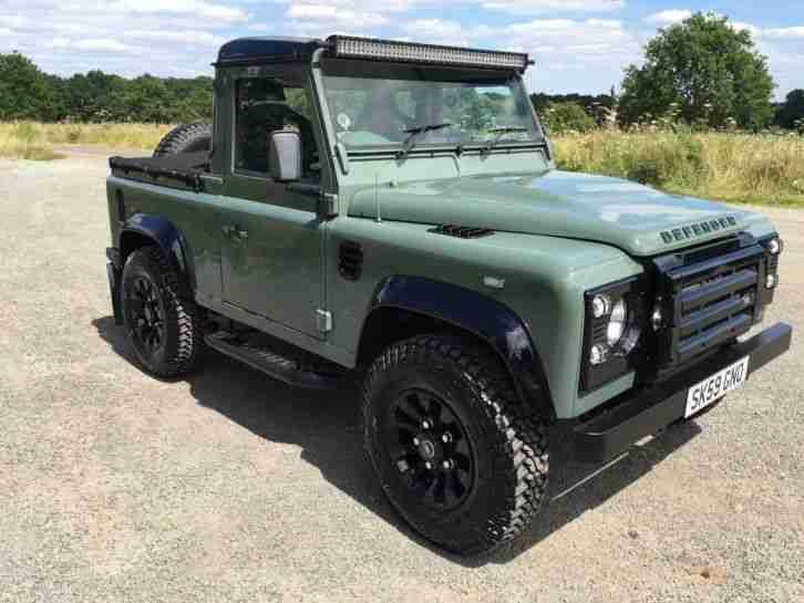 Defender 90 Land Rover Keswick Green Pickup Car For Sale