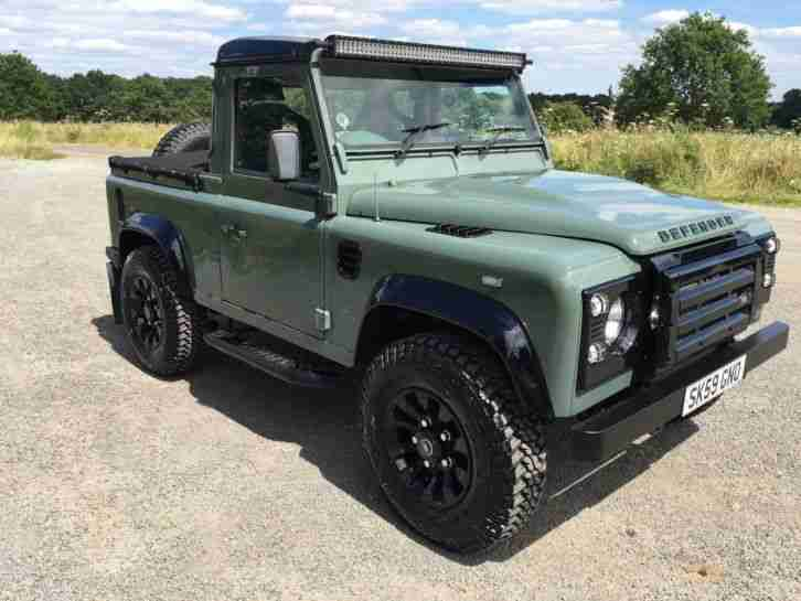 Defender 90 Land Rover Keswick Green Pickup Car For Sale