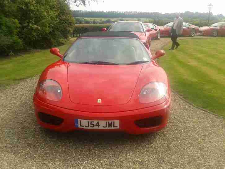 FERRARI 360 SPIDER ROSSO RED WITH CREMA LEATHER 17K MILES STUNNING ORIGINAL