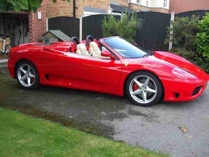 ferrari 360 spider rosso red with crema leather 17k miles stunning. Black Bedroom Furniture Sets. Home Design Ideas