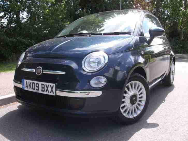 Fiat 500 1 4 Lounge 2009 Petrol Manual In Blue Car For Sale