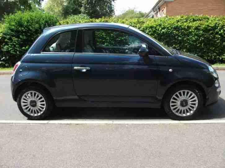 fiat 500 1 4 lounge 2009 petrol manual in blue car for sale. Black Bedroom Furniture Sets. Home Design Ideas
