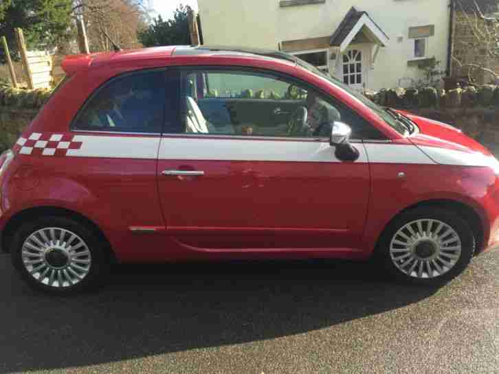 FIAT 500 LOUNGE 2008 RED PANORAMIC GLASS ROOF GREAT CONDITION