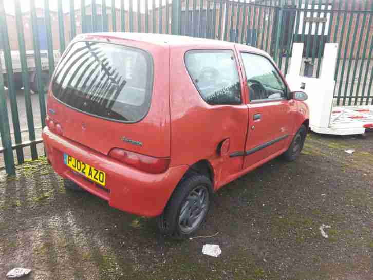 FIAT SEICENTO SPORTING SPARES OR BRAVE REPAIR! MOT,d 99P NO RESERVE!!