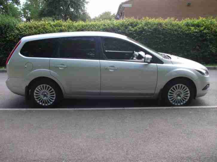 ford focus titanium tdci estate 2008 diesel manual in silver car for sale. Black Bedroom Furniture Sets. Home Design Ideas